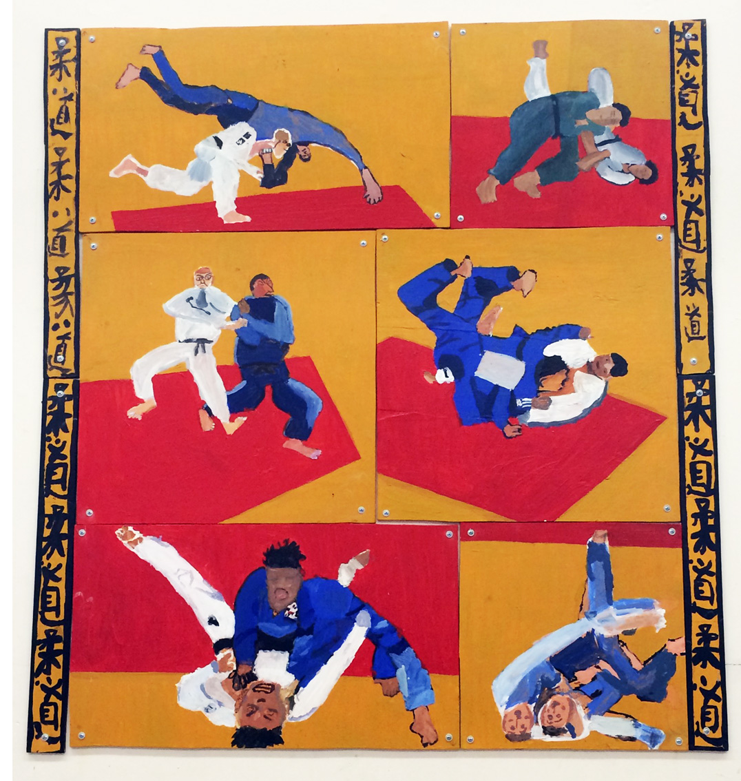 London N1 - Judo series - Painted wood - 1.20m x 1.10m - 2016